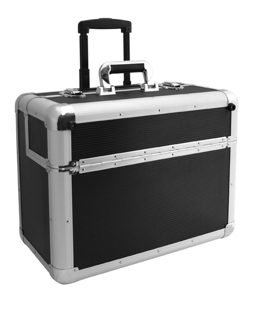 Tool case aluminium, on castors