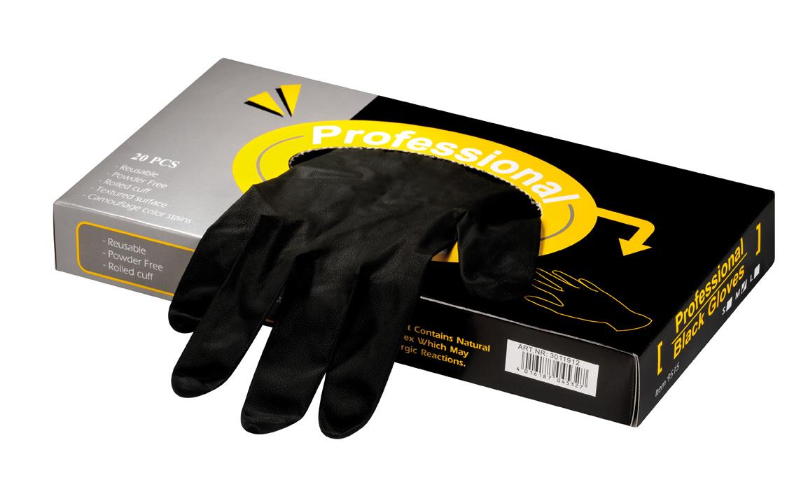 Gants en latex Professional Black grande taille