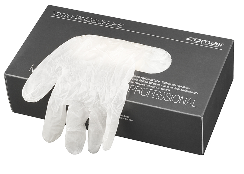 Vinyl gloves powdered, large