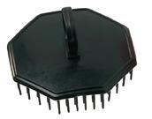 Kopfmassagebürste schwarz