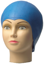 Highlighter cap, blue, perforated