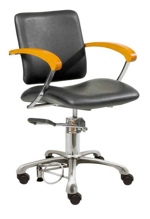 Styling chair London C, armrest beech