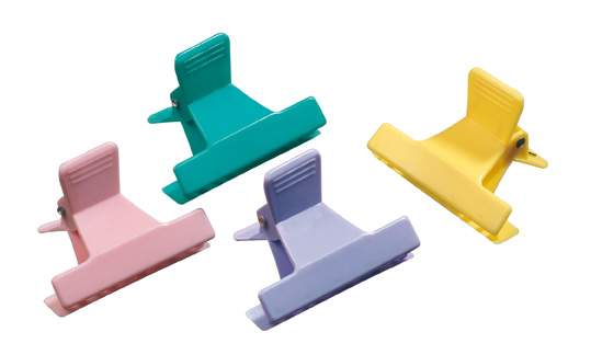 Duck bill clips coloured
