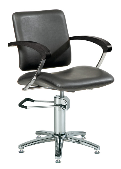 Styling chair London A, armrest black