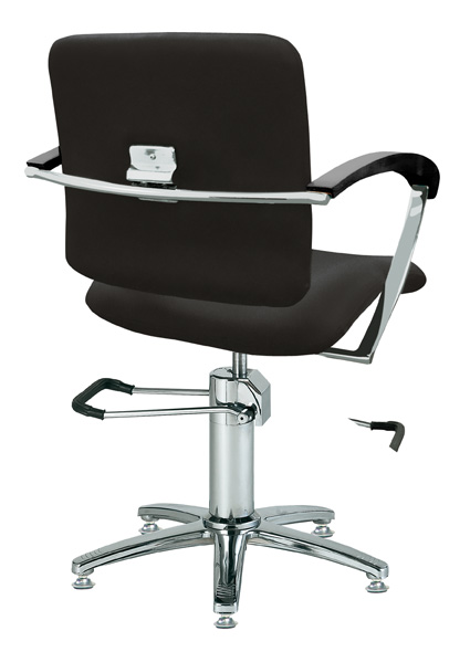 Styling chair London B, armrest black