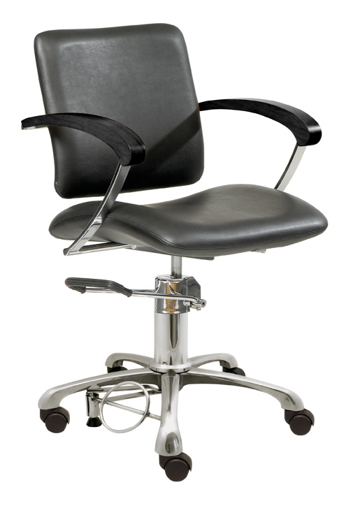 Styling chair London C, armrest black