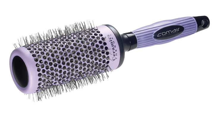 Professional round hairbrush Purple Pink Ø 53 mm