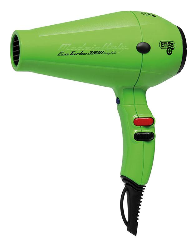 Hairdryer Eco Turbo 3900 light, green