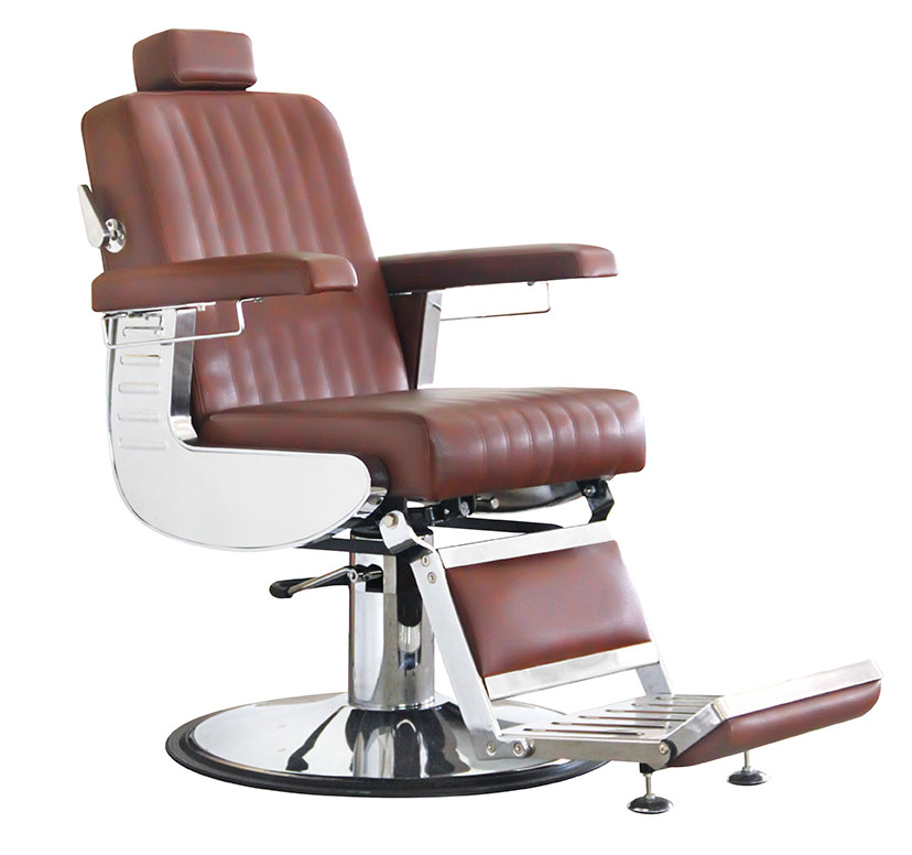 Gents' styling chair Diplomat, cognac brown